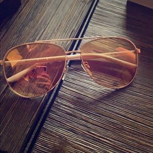 Michael Kors Tinted Rose Gold Sunglasses